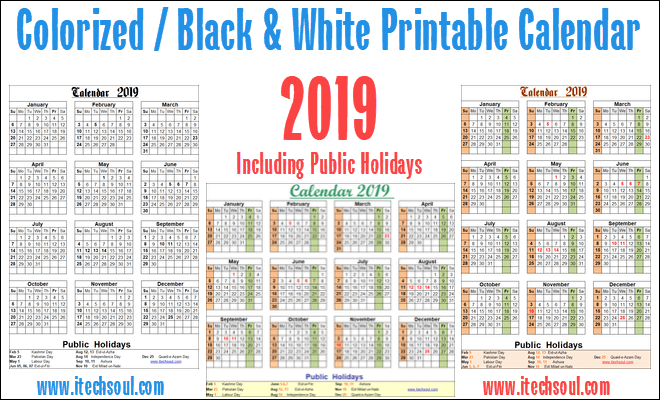 Printable Pakistani Calendar 2019 Printable Calendar Calendar 2019 With Holidays Calendar