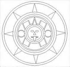 Aztec Sun Coloring Page Yahoo Image Search Results Aztec Art
