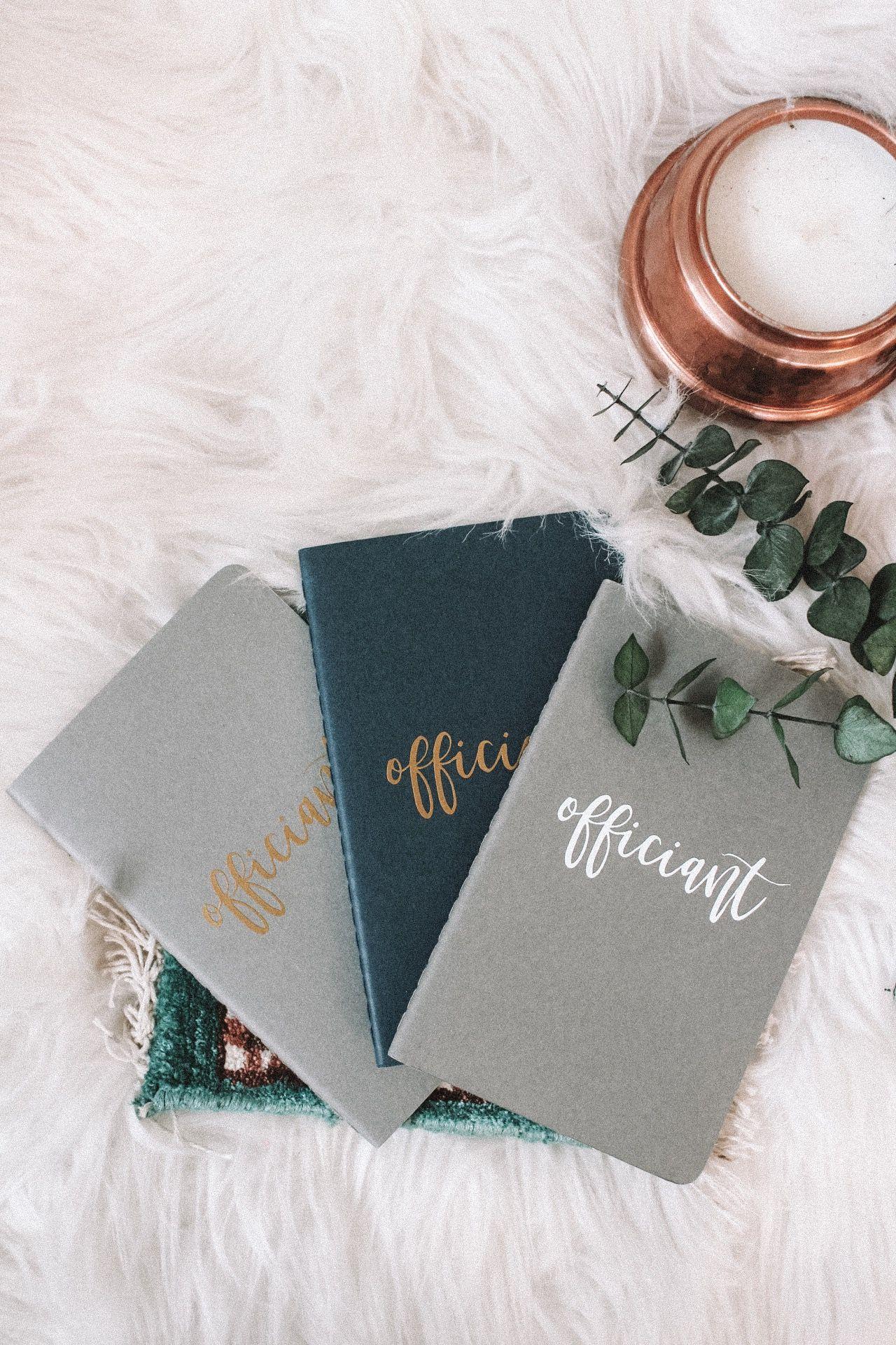 Officiant Book Wedding Officiant Journal Wedding Speech