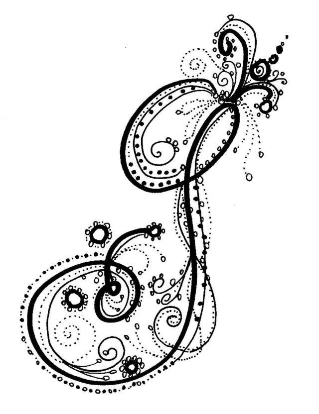 Fancy Alphabet  Jennifer    Fancy Fonts And Doodles