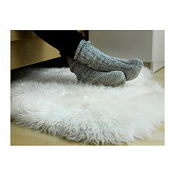 LUDDE white off white, Sheepskin IKEA | White sheepskin