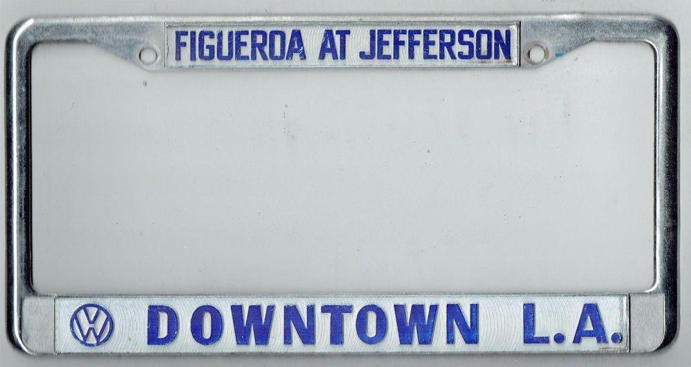 Downtown Los Angeles La California Volkswagen Vintage Dealer License ...