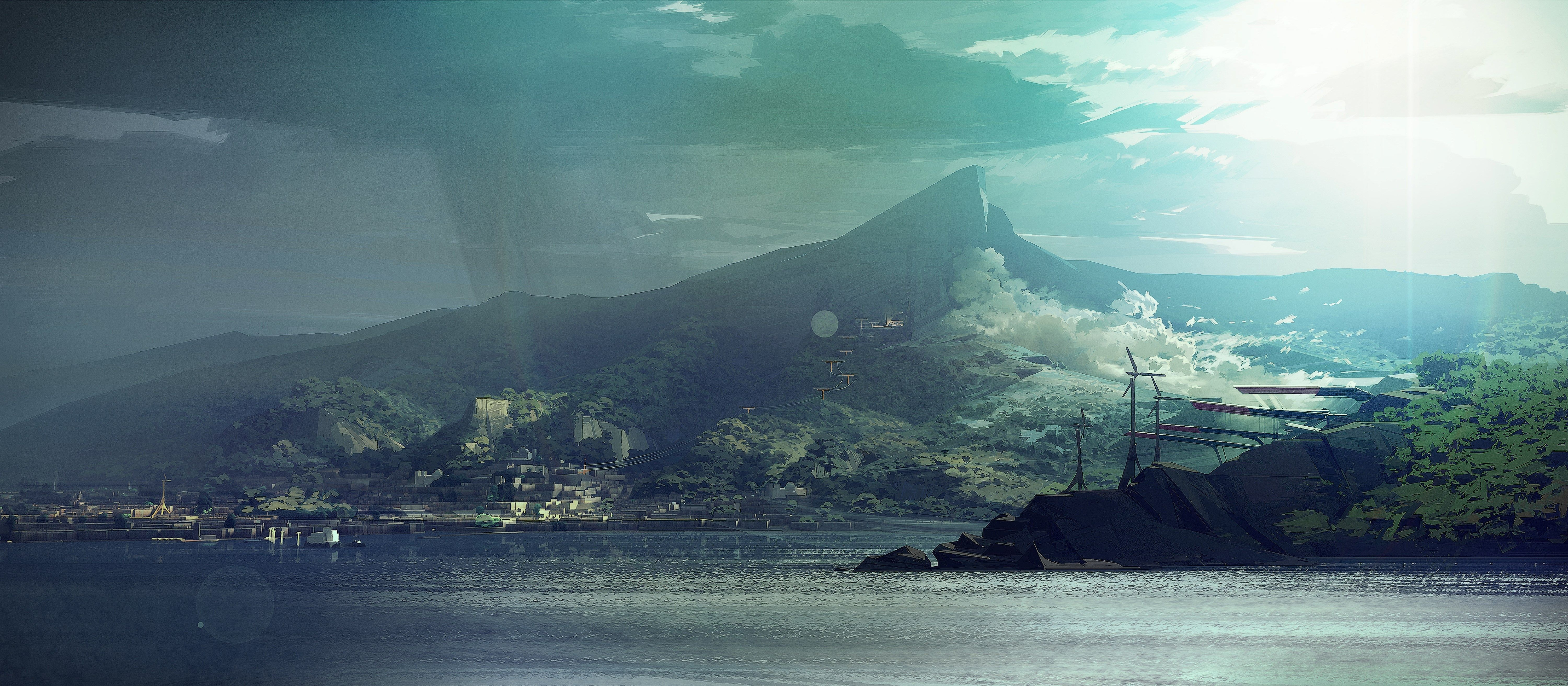 Dishonored 2 Wallpapers 1080p High Quality 6000x2626 3556 Kb Dishonored 2 Dishonored Environment Design
