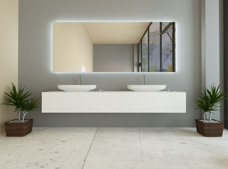 Tigres Ist Ein Badspiegel Mit Hintergrundbeleuchtung Badspiegel