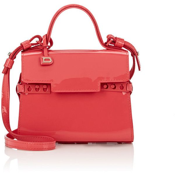 Delvaux Women's Tempête Micro-Satchel ($2,850) ❤ liked on Polyvore featuring bags, handbags, pink, red patent leather purse, patent leather purse, satchel handbags, pink purse and patent leather handbags