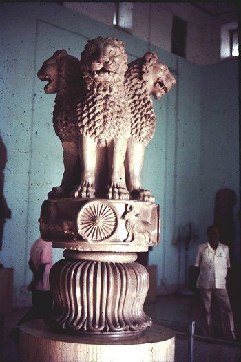 259 BC: The Mauryan king Ashoka, grandson of Chandragupta, converts to Buddhism and sends out Buddhist missionaries to nearby states 251 BC: Ashoka's son Mahinda introduces Buddhism to Ceylon (Sri Lanka)