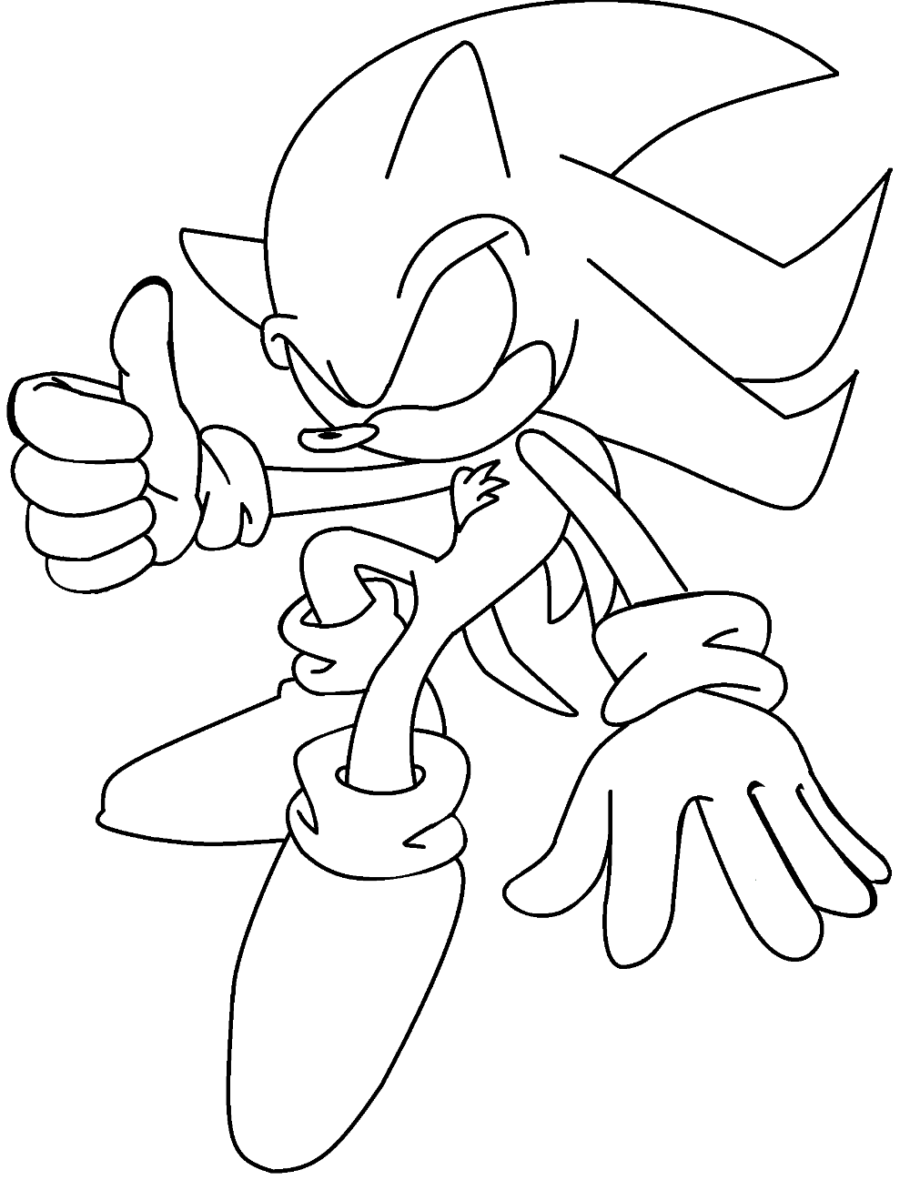 Dark Sonic The Hedgehog Coloring Pages - PeepsBurgh