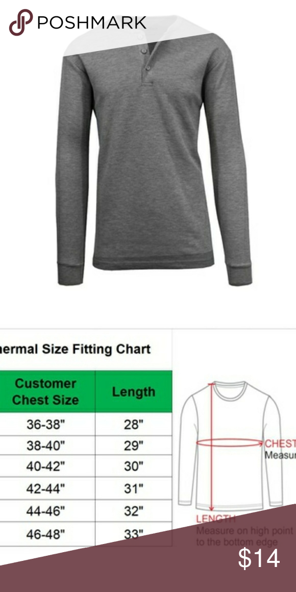 0fed35234f29 Men s Waffle Knit Henley Long Sleeve Thermal Tee L Galaxy by Harvic  Charcoal Gray Crew Neck Long Sleeve Thermal Tee. Waffle knit design for  shrink ...