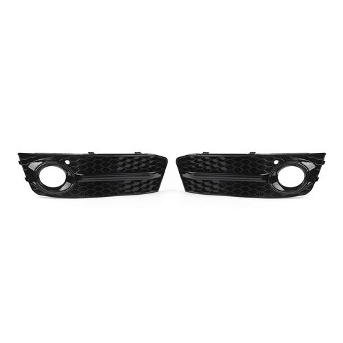 1Pair Front Bumper Fog Lamp Mesh Grille Kit For AUDI A4 B8