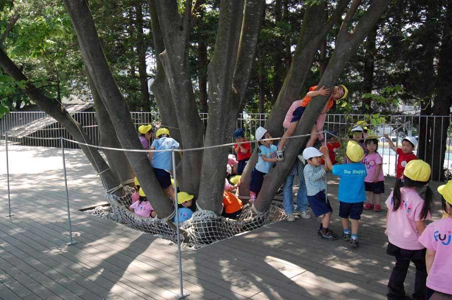 Kinder Garden: Fuji Kindergarten By Tezuka Architects. Tachikawa, Tokyo