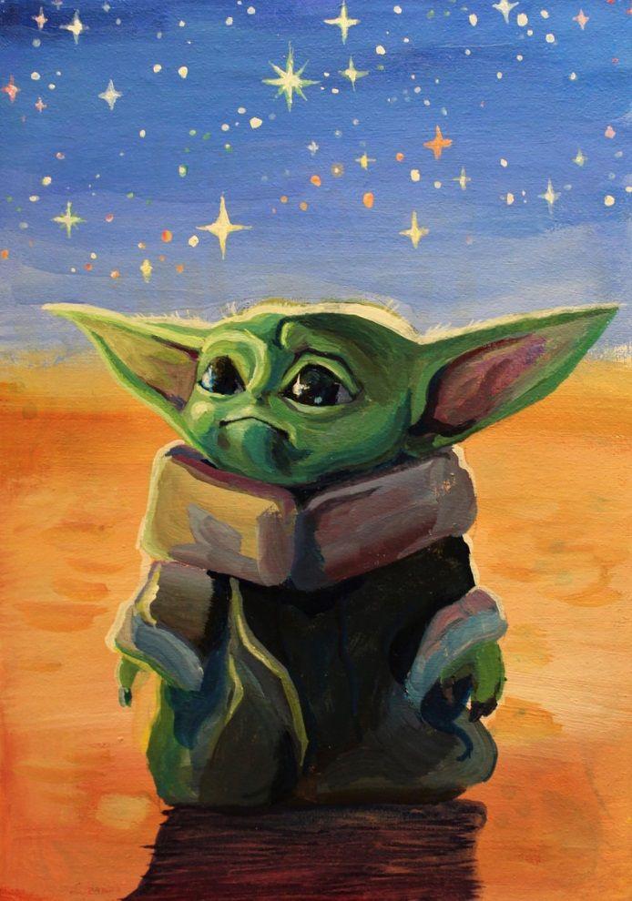 Baby Yoda Disney Canvas Art Yoda Art Star Wars Art