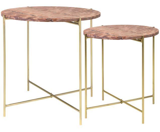 Photo of Set 2 tavolini in marmo Freja