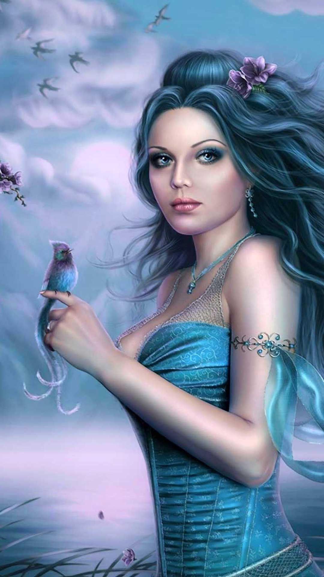 Cute 3d Iphone Wallpaper 2020 Live Wallpaper Hd Fairy Wallpaper Cute Girl Wallpaper Blue Fairy