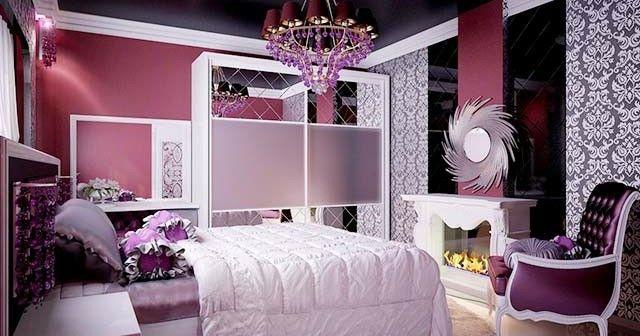 habitaciones juveniles chica color purpura moderno atrevido ...