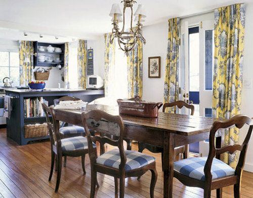 Perfect natural color scheme for an open French Country ...
