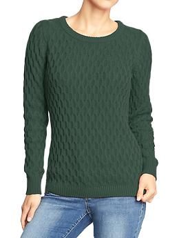 6ebfb3a83225c I want this in every color. Women s Honeycomb-Knit Sweaters