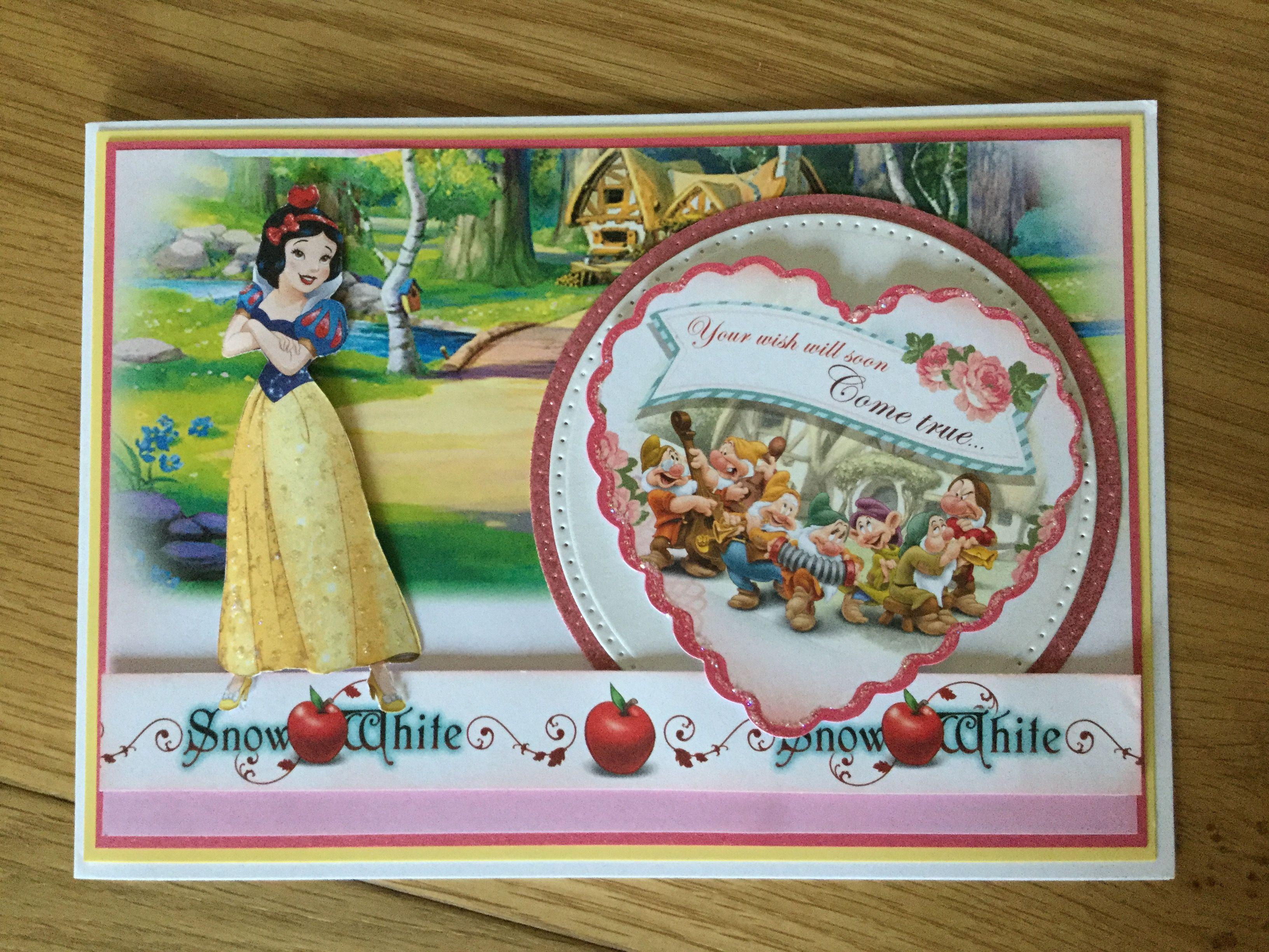 Snow White Birthday Card Cards Birthday Kids Pinterest Snow