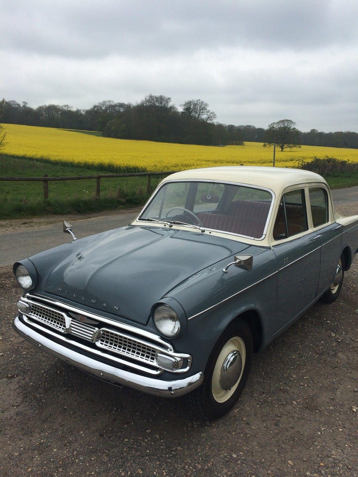 Hillman minx de-luxe grey/cream 1962 | Vehicle Wish List