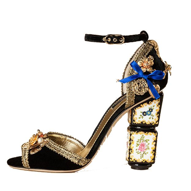MILANO RUNWAY FASHION BOHEMIAN EMBROIDERED META HIGH META HIGH HEELS  US$140.00