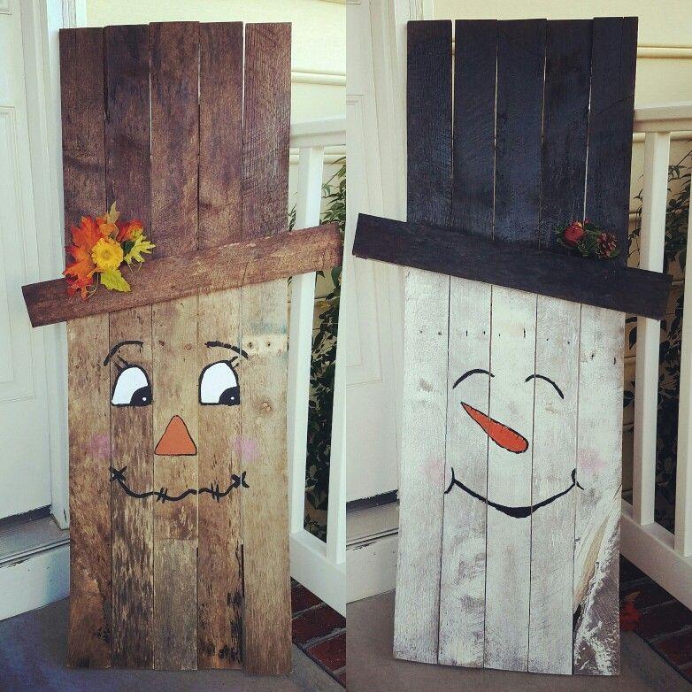 Pallet board fall/winter decorations | Winter decor ...