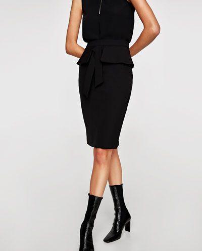 5bb7acdfa0d Billede 2 af STRAM NEDERDEL I PEPLUM fra Zara | Tøj | Smykker ...