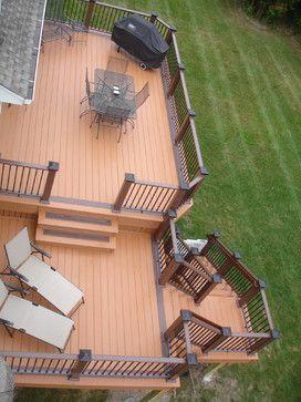Pin By Sheri Woodall On Cabin Remodel Ideas Building A Deck Deck Design Deck Designs Backyard