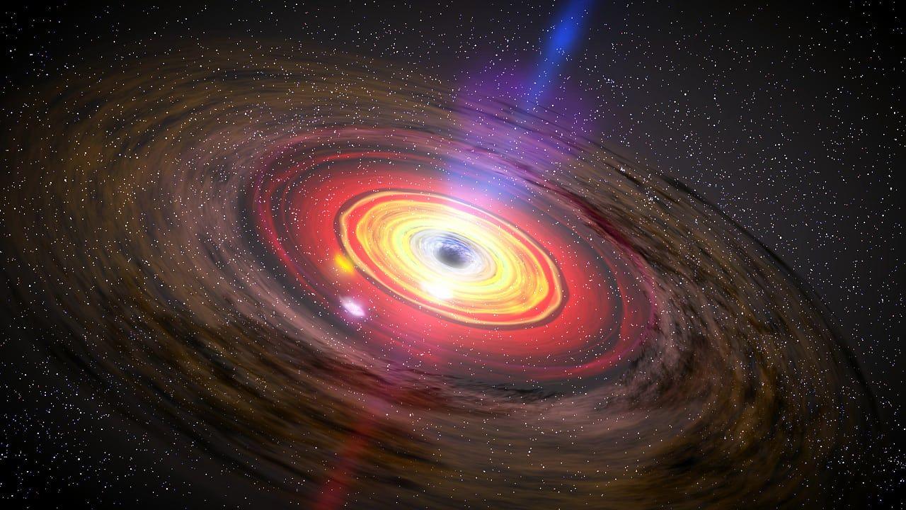 Galaktisches Zentrum Als Das Schwarze Loch Zu Hochtouren Auflief Schwarzes Loch Galaxien Weltraumteleskop