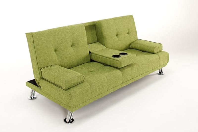 The Harlow 2 Seater Fabric Cinema Style Lounge Sofa Bed Living Room Furniture