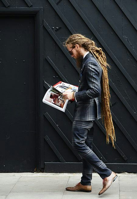Dreaded Man In A Suit Hot Dreadlocks Are Sic