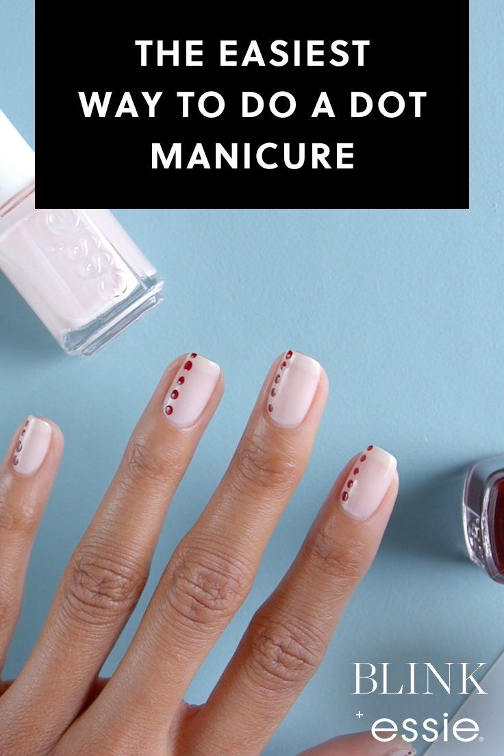 The Easiest Way to Do a Dot Manicure with Essie Nail Polish ...