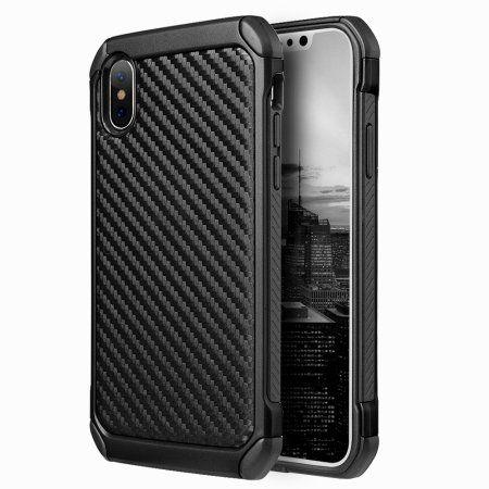 Mundaze Apple Iphone X Tough Anti Shock Carbon Fiber Texture Phone Case Black In 2020 Carbon Fiber Iphone Apple Iphone