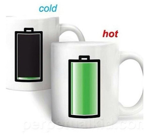 The cup that shows you the temperature of your drink