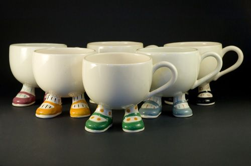 Set of six Carlton Ware Walking Ware Cups