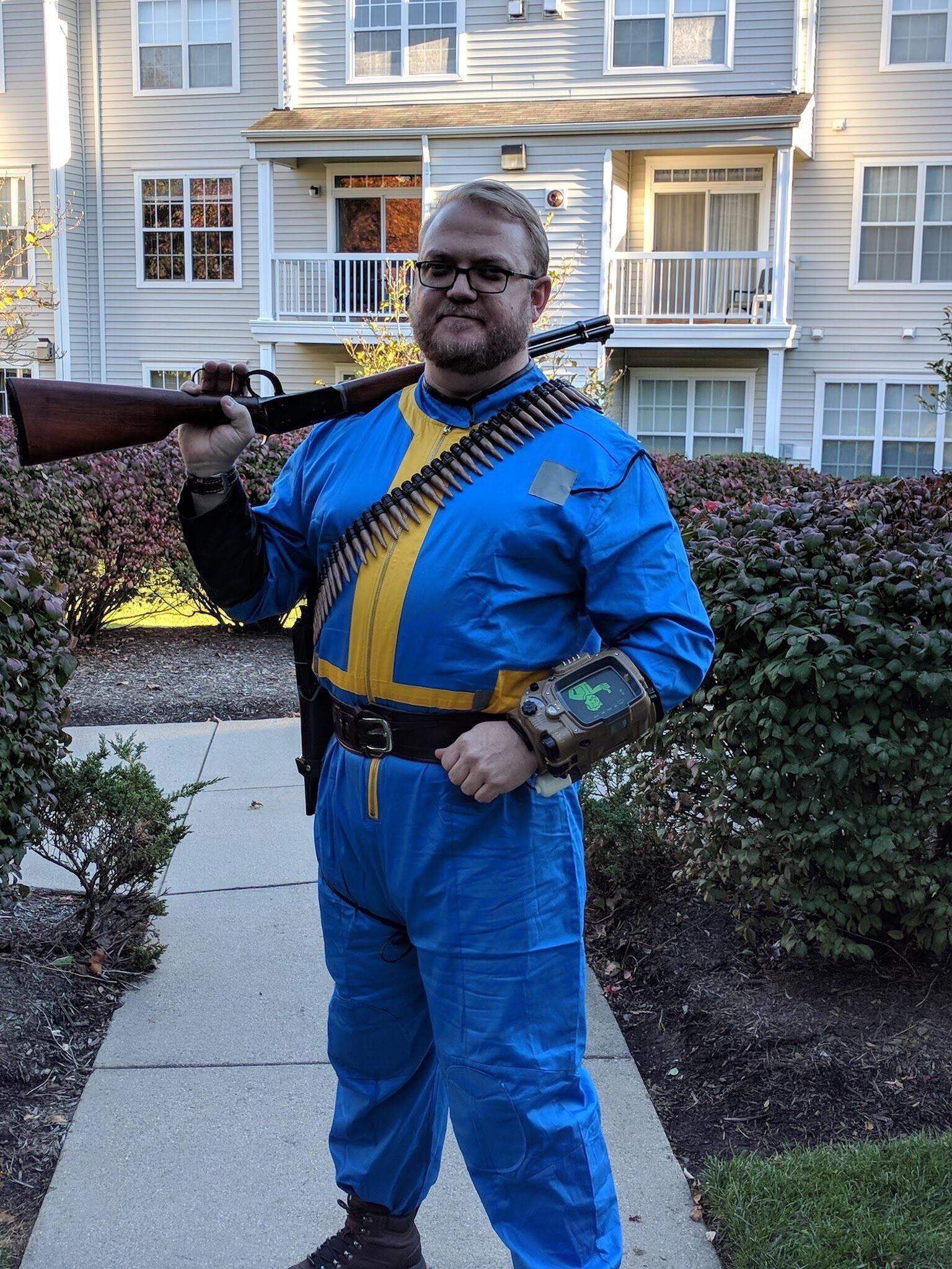 Fallout vault boy costume