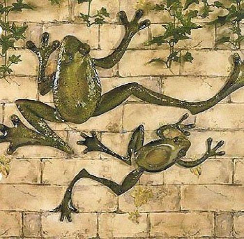 New Frogs Metal Wall Art Set of 2 Home Kitchen Indoor Outdoor Patio ...