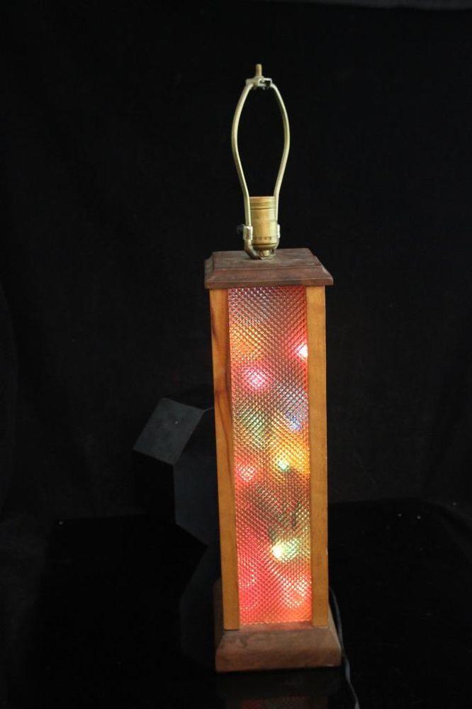 Hippie Groovy Table Lamp Light Color Organ Light Box 1960 S Oak Table Lamp Lighting Lamp Light Colors