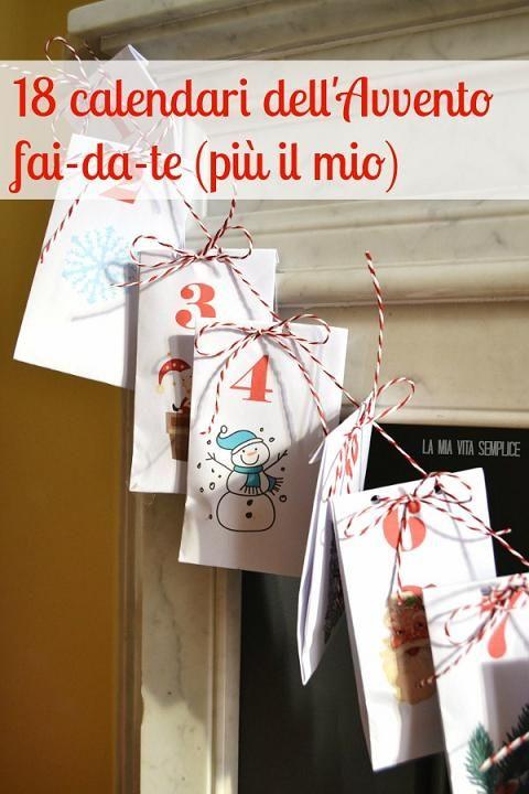 Calendario Dellavvento Pinterest.Calendario Dell Avvento Fai Da Te Calendario Avvento