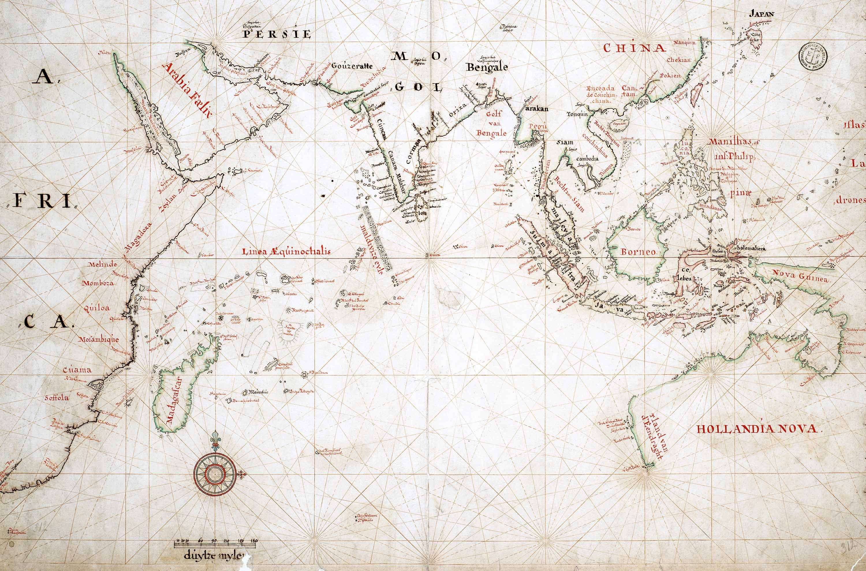 Map Of Australia 1700.Trade Area Of The Voc Dutch East India Company Around 1700 Map