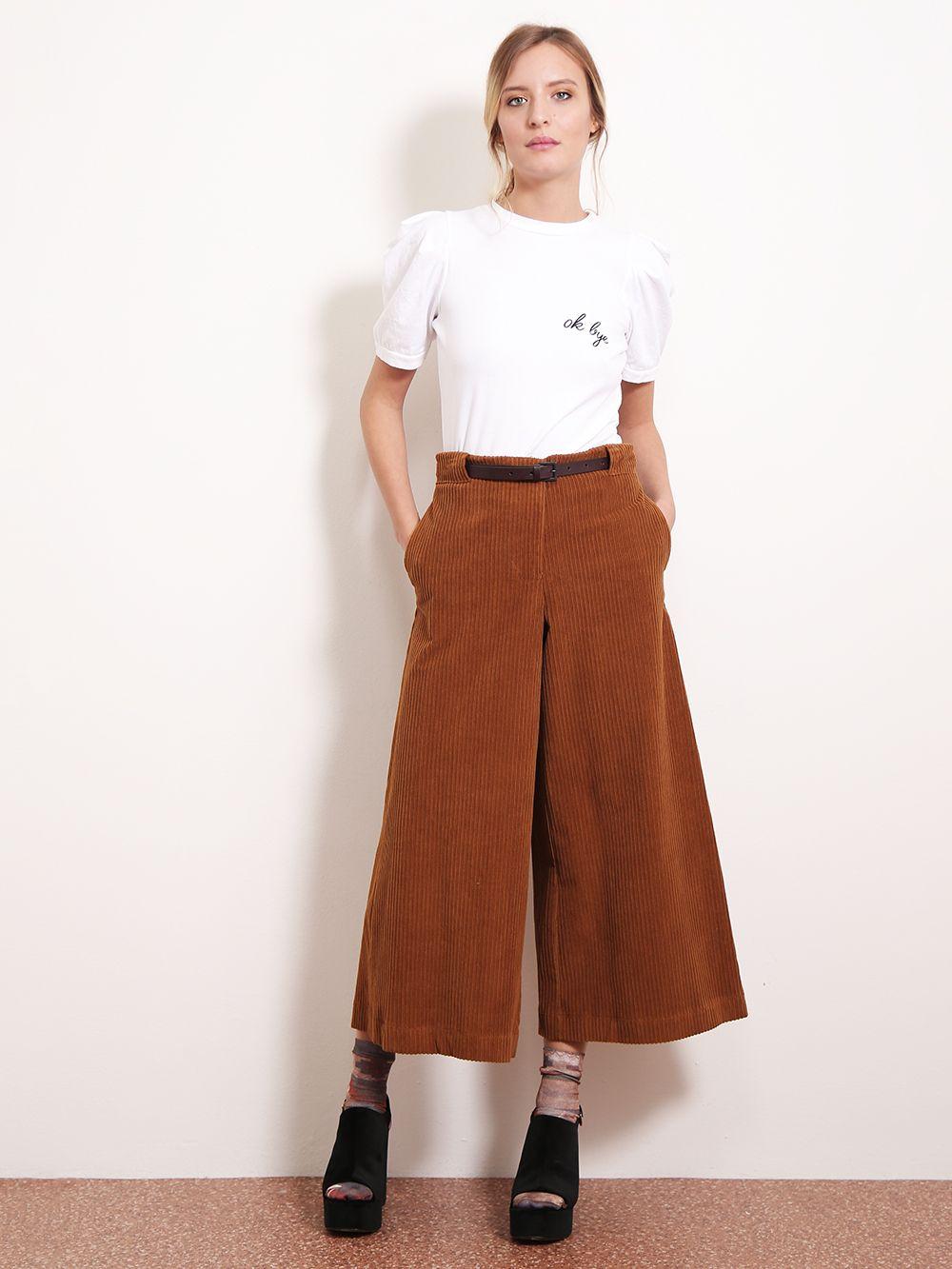 design innovativo 27edd 3142a GONNA PANTALONE IN VELLUTO A COSTE   Abiti   Velvet skirt ...
