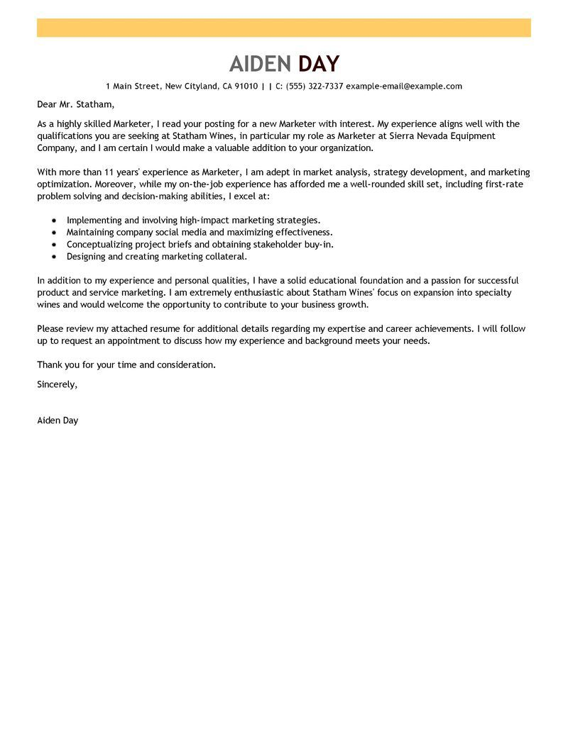 Social Media Cover Letter Sample Cheque  Free Letter Of Recommendations  Pinterest