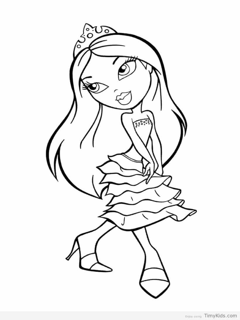 http://timykids.com/bratz-coloring-pages.html | Colorings | Pinterest