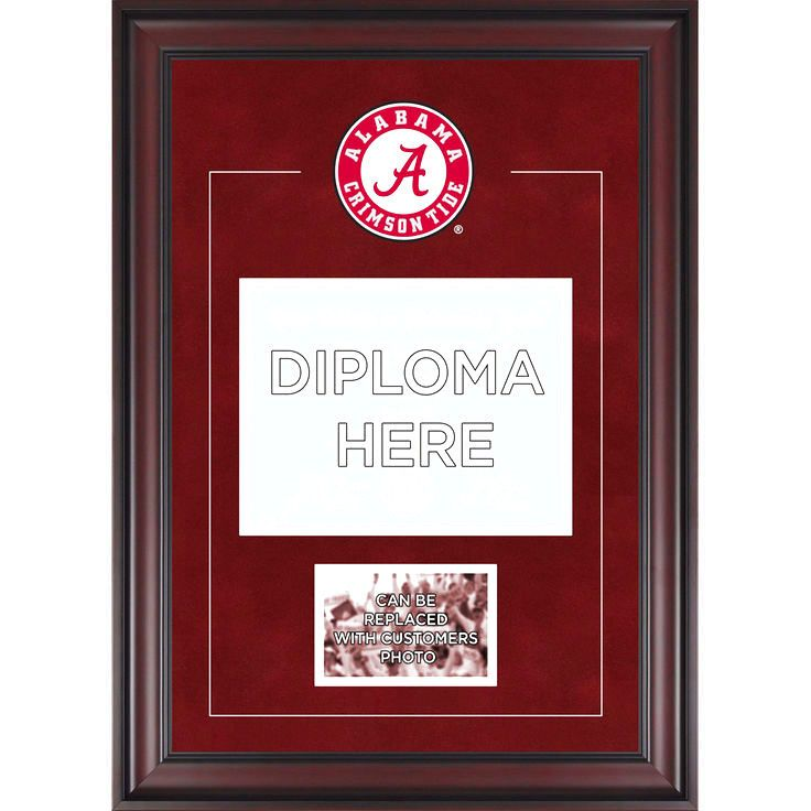 """Alabama Crimson Tide Fanatics Authentic Deluxe 8.5"""" x 11"""" Diploma Frame with Team Logo - Insert Your Own 4"""" x 6"""" Photograph - $119.99"""