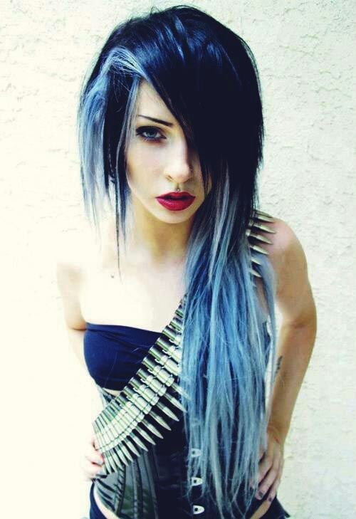 Image result for blue purple hair color ideas half n half