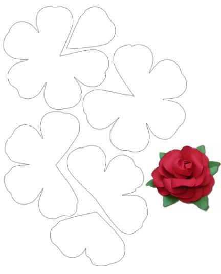 Taller de fieltro desde cero patron5 flor3d fiori di carta giganti felt templates mightylinksfo