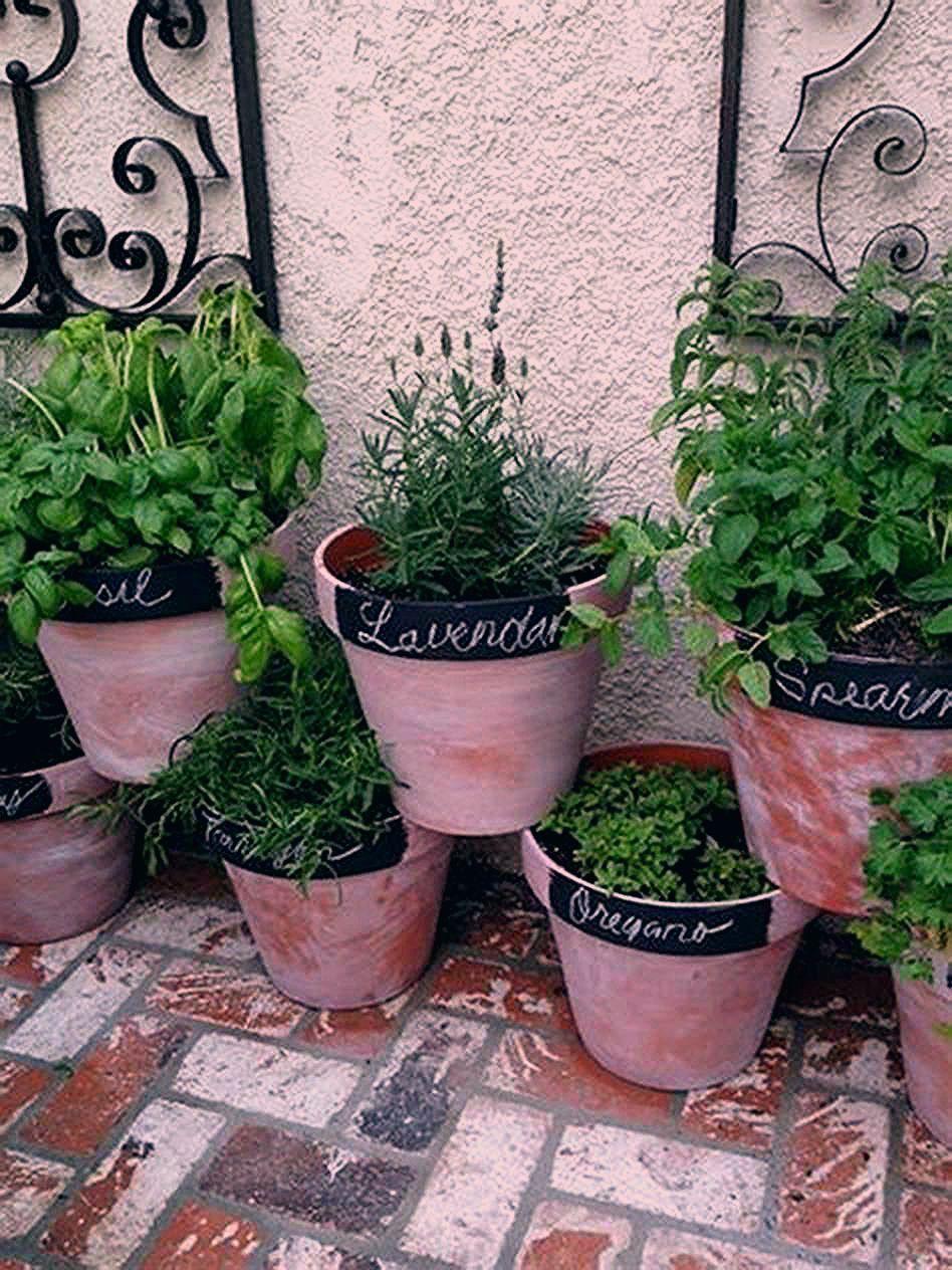 42 Amazing Ideas Small Herb Garden Ideas You Ll Love Decorecent 42 Amazing Ideas Small Herb Garden Ide In 2020 Small Patio Garden Patio Landscaping Patio Herb Garden