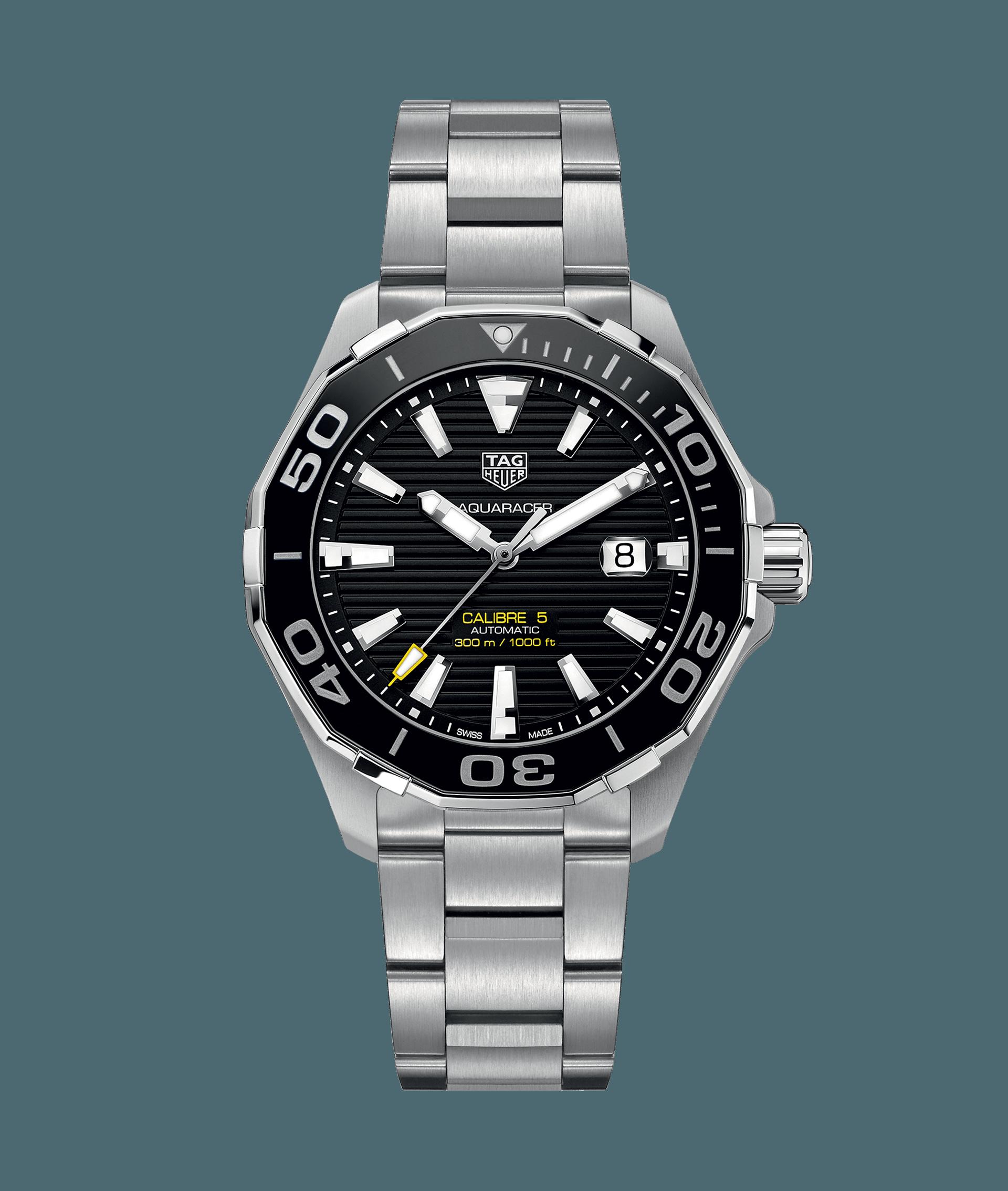 7b1d096cc9e Aquaracer Calibre 5 Automatic #watch 300 M - 43 mm Ceramic Bezel  WAY201A.BA0927 TAG Heuer watch price