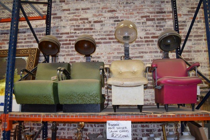 Vintage Beauty Parlor Salon Hair Dryer Chairs Vintage