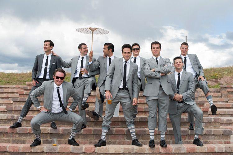 Vail Wedding deck, mountain wedding, colorado, grooms and groomsmen ...