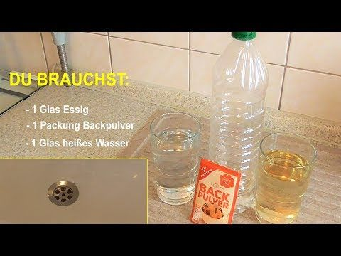 Waschbecken Abfluss verstopft in Dusche oder Küche