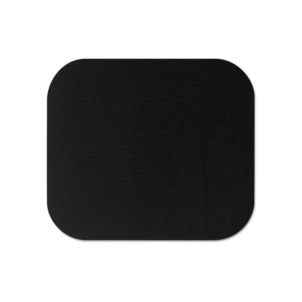 Fellowes Polyester Mouse Pad, Nonskid Rubber Base - Black
